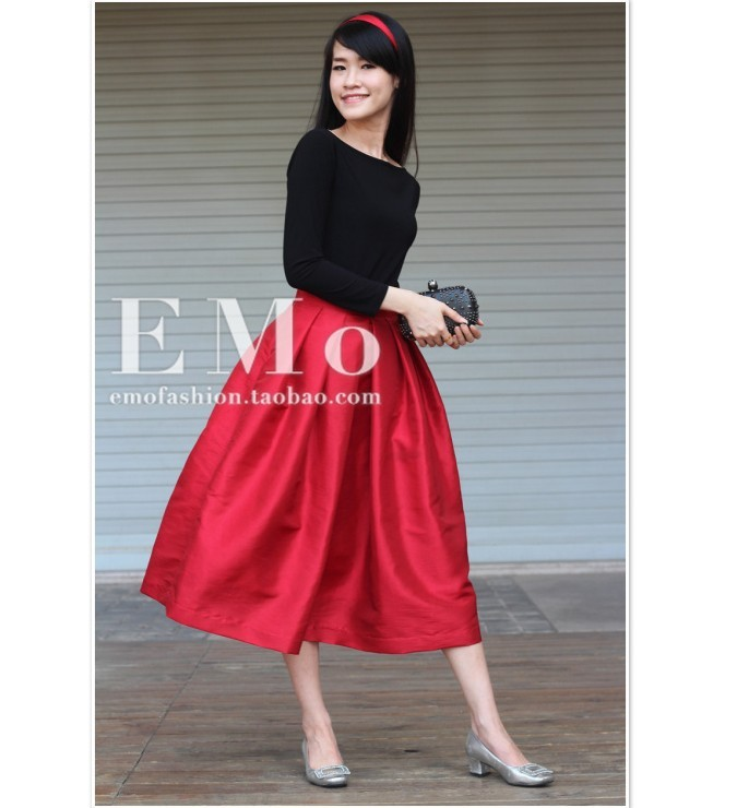 Popular Long Red Skirts-Buy Cheap Long Red Skirts lots from China ...
