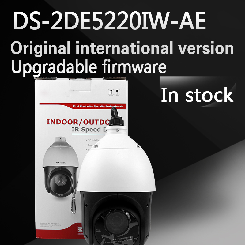 in Stock free shipping english version DS-2DE5220IW-AE 2MP 20X Network IR PTZ Dome Camera hikvision ds 2de7230iw ae english version 2mp 1080p ip camera ptz camera 4 3mm 129mm 30x zoom support ezviz ip66 outdoor poe