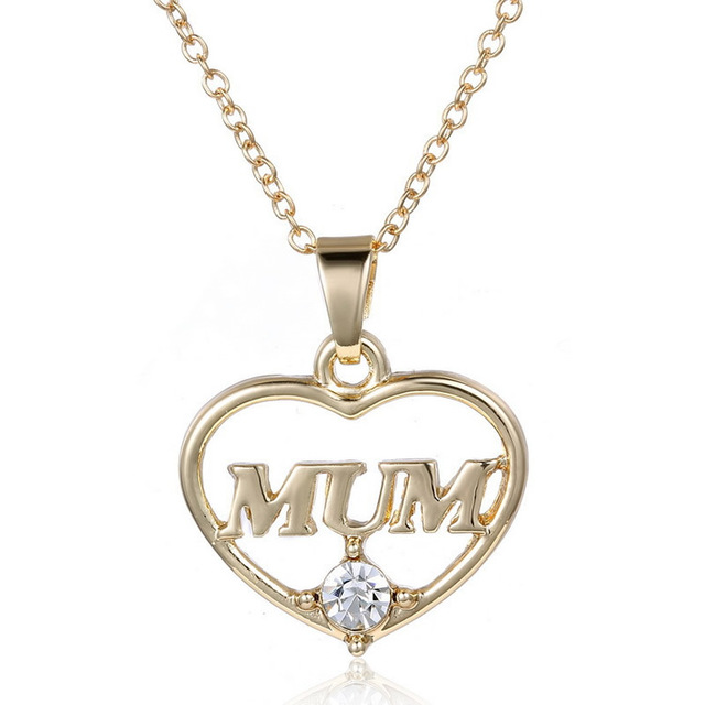 3strandsbag love mum pendants necklace designer heart hollow 3strandsbag love mum pendants necklace designer heart hollow shape word mum gold color with mozeypictures Image collections