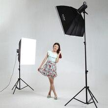 Adearstudio SP400w*2 Photographic Lighting two light stand Portable Studio Flash Video Lighting CD50