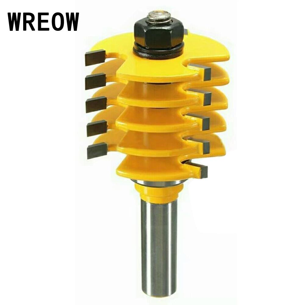 Adjustable 1\/2 Shank Milling Cutter Wood Router Bit Splicing Puzzle Gong Floor Woodworking