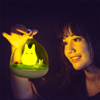 Fashion Design Night Lamp Totoro Cute Portable Touch Sensor USB LED Lights For Baby Bedroom Sleep