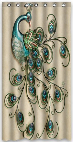Beautiful Peacock Bird Tail Feathers Shower Curtain