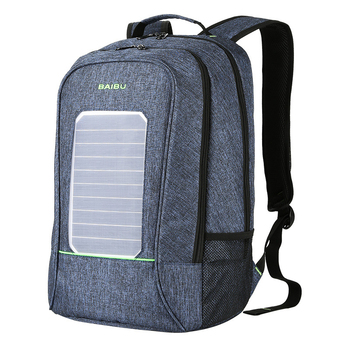 Solar Powered Backpack USB Charging