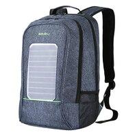 Solar Powered Backpack USB Charging Laptop Bag Fashion School Bag For Men Travel Business Casual Sport