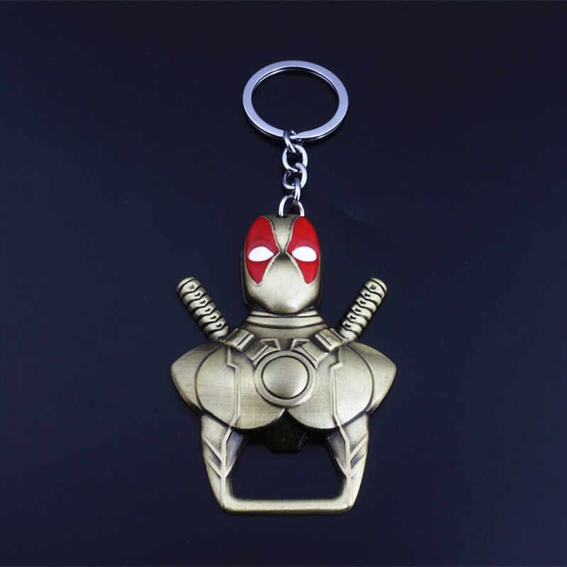 SG Dropshipping Thanh Công Cụ Deadpool Mặt Nạ Dụng Cụ Mở Nắp Hộp Móc Chìa Khóa Đôi Dao Giá Đỡ Móc Khóa Sắt Người Nhện Lưu Niệm Món Quà Trang Sức