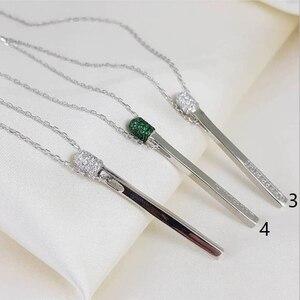 Image 5 - Хит 2020 новинка ожерелье от итальянского дизайнера Брендовая подвеска спички из 925 пробы серебра для женщин и девушек