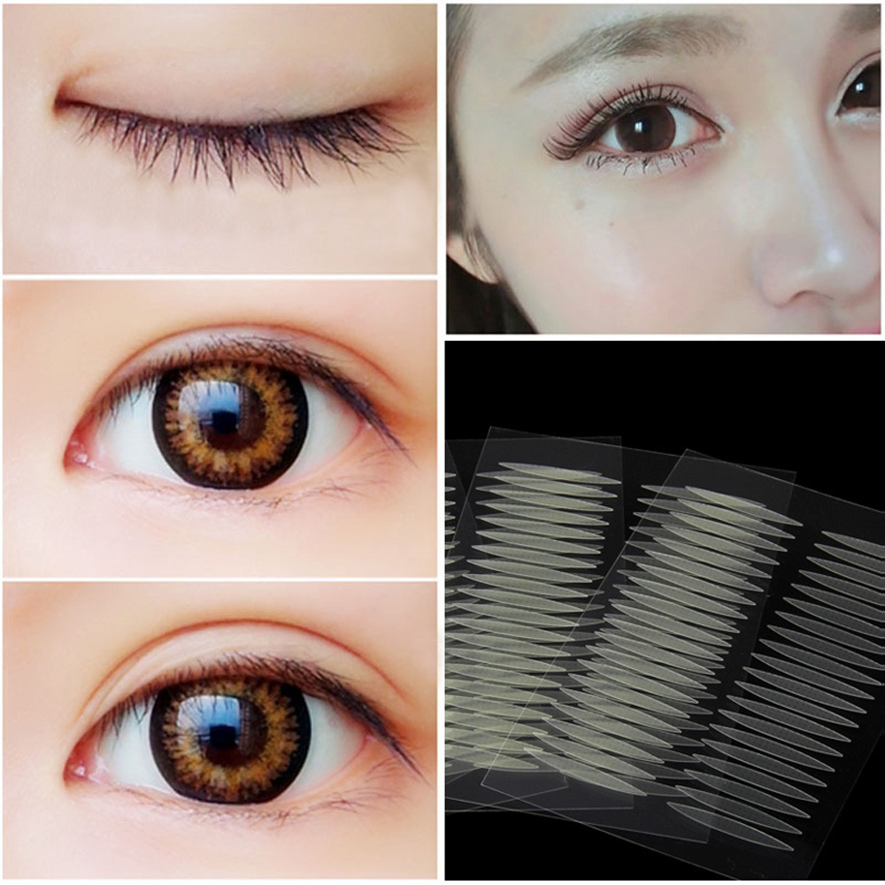 200 Pairs Olive-shaped Eyelid Paste-shaped  Invisible Double Fold Eyelid Shadow Tape Sticker Beauty Tool 2.5*0.3cm