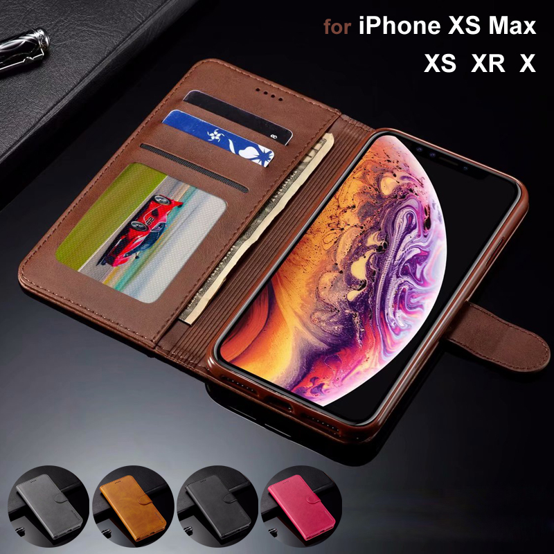 Luxury Flip Case for iPhone XS Max XR Leather Phone Case Cover Magnetic Wallet for iPhone XS Max Case for iPhone XR X Coque Capa iphone xr case magnetic
