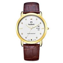 2016 Новый Nuodun Мужчины Повседневная Часы Марка Кварцевые Часы Мужчины Бизнес Наручные Часы Мужской Часы Часы Простой Relogio Masculino