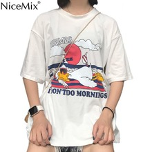 NiceMix 2019 Summer Harajuku T Shirt Women Casual Loose Tops Print BAHAMAS Letters Tee Shirt Femme Camiseta Feminina nicemix 2019 spring harajuku t shirt women sexy tops solid long sleeve casual tee shirt femme camiseta feminina
