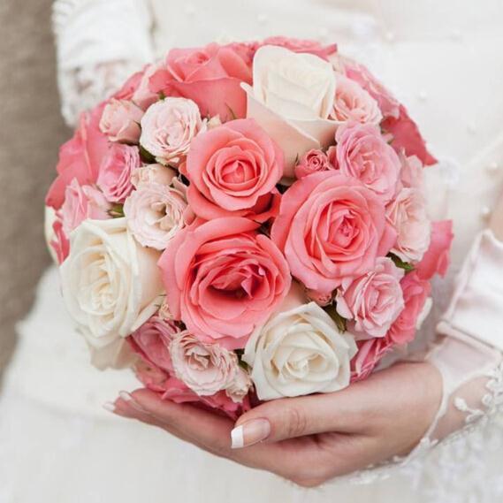 Bridal Floral Foam Bouquet Handle Wedding Flower Holder ...