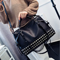 Fashion Boston Women Bag Ladies Rivet Messenger Bags For Women Vintage Designer Handbags High Quality Famous Brands Big Tote Bag