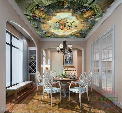 3d wallpaper custom 3d ceiling murals wallpaper mural Classical Angel zenith home decor