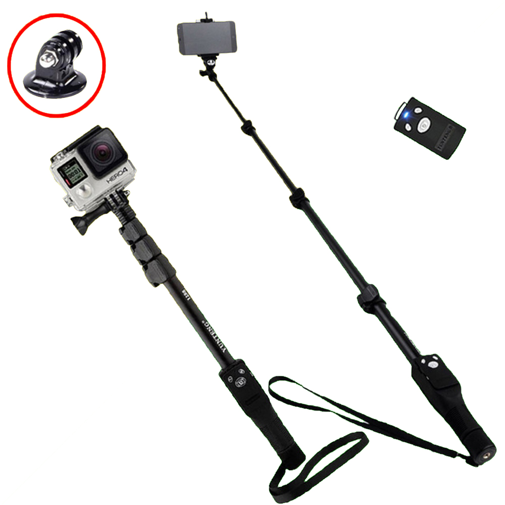 Yunteng 1288 Phone Gopro Hero4/3/2 SJCAM Camera Selfie Stick Bluetooth Self-portrait Monopod Self-Timer Pole For Iphone Samsung стоимость