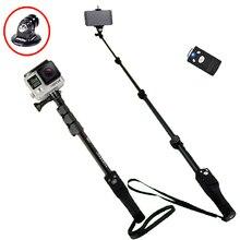 Yunteng 1288 телефон Gopro Hero4/3/2 SJCAM селфи палка для камеры Bluetooth Автопортрет монопод автоспуска полюсный для Iphone samsung