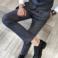Quality Party Pants Winter Thick British Style Mens Dress Pants Business Casual Korean Slim Fit Long Trousers Men Clothing 5XL-M