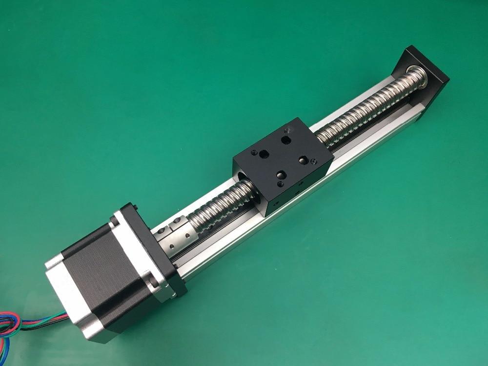 Envío libre C7 Husillo a bolas etapa de movimiento lineal actuador guía para 3d impresora kit brazo robótico
