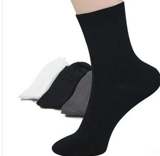 US $31 35 5% OFF|$0 55 30paris=1lot Men's 4 Seasons Business Plain Sock  Supernova Sale Christmas Gift For boyfriend Wholesale MS005-in Men's Socks