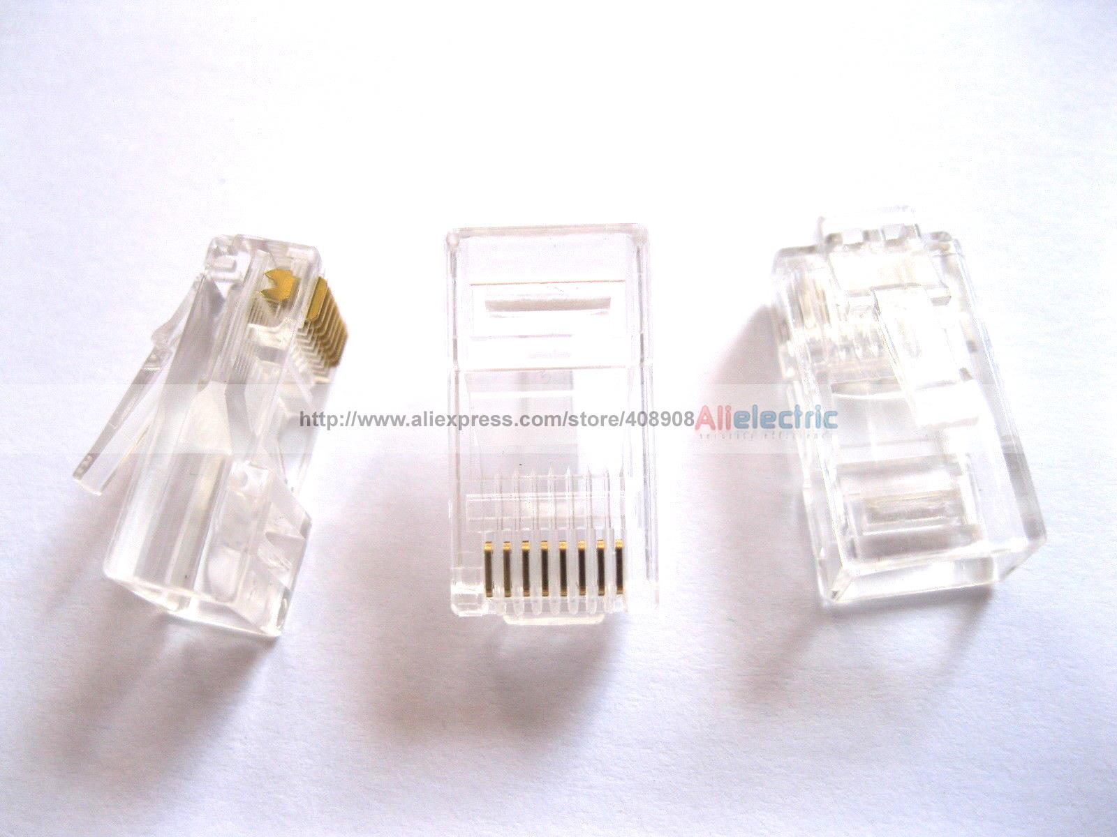 300 Pcs RJ45 Modular Plug Network Connector CAT5 8P8C imc hot 10 pcs rj45 8p8c double ports female plug telephone connector