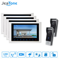 JeaTone 10 TFT Inch Video Doorbell Hands Free Dual Communication 4 Monitor IR Night Vision 3