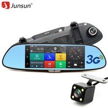 """Junsun 7 """"3G Câmera Do Carro DVR GPS Do Bluetooth Espelho Retrovisor de Lente Dupla Gravador de Vídeo FHD 1080 P DVR Automóvel Espelho Traço cam"""