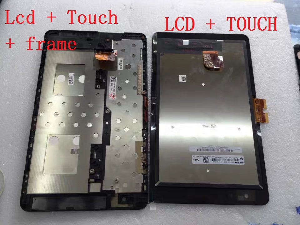 version 5468W lcd and touch with frame For DELL Venue 8 Pro Display With Touch Screen Digitizer Assembly  Free Shipping  original lcd for lg optimus g2 d802 lcd touch screen with frame black and white color dhl free shipping