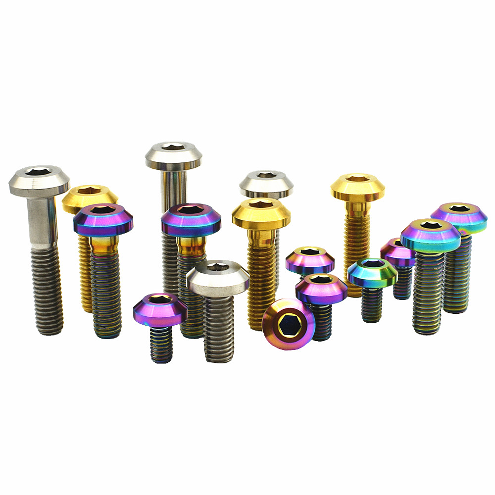 Titanium Bolts For Motorcycle Disc Brake M6 M8 x20 25 30mm Capliers Bolt Pan Head Ti Bolt Multicolor Ti Screws M6x12-30mm 6pcs titanium bolts for motorcycle disc brake m6 m8 x20 25 30mm capliers bolt pan head ti bolt multicolor ti screws m6x12 30mm 6pcs