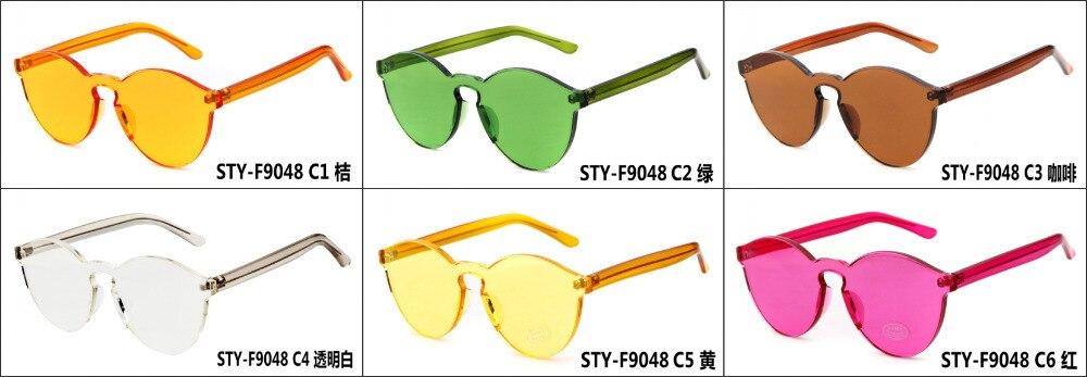 Lo nuevo Multicolor gafas de sol redondas mujeres nuevo diseño sin ...