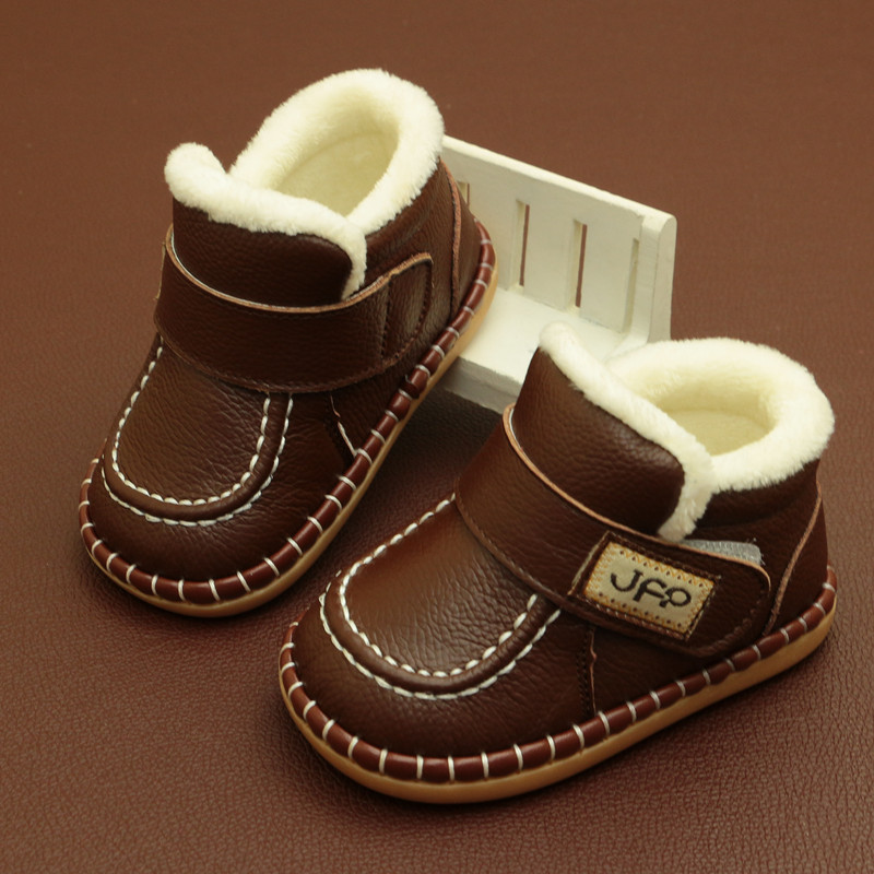2019 Newest Boys Baby Snow Boots Warm Winter Boots Genuine Leather Plush Boots For Babies Sale