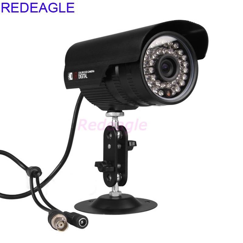 REDEAGLE 900TVL CCTV Color Video Surveillance Security Camera 36pcs LED IR CUT Filter Indoor Outdoor Waterproof Metal Case zea afs011 600tvl hd cctv surveillance camera w 36 ir led white pal