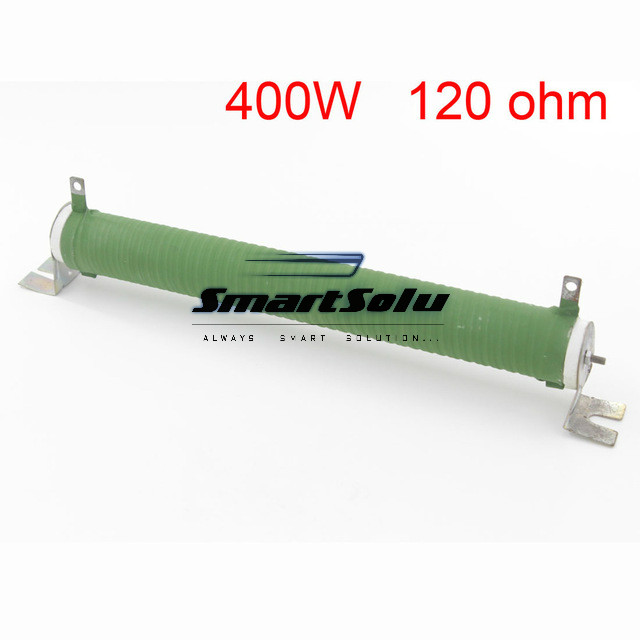 Green Fixed Type Pipe Resistance 400W 120 ohm Ceramic Tube Resistor цены
