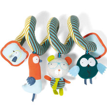 Newborn Baby Mamas And Papas Toys Baby Rattle Stroller Playing Toys Hanging Infant  Mobile Baby Music Crib Plush Bird