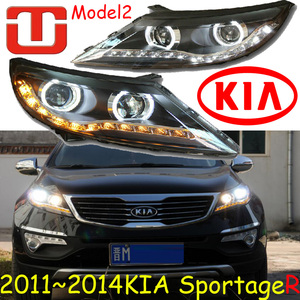 Image 5 - KlA SportageR faro delantero, 2011 ~ 2014, luz diurna SportageR, accesorios para coche, sportage,sportage R, envío gratis