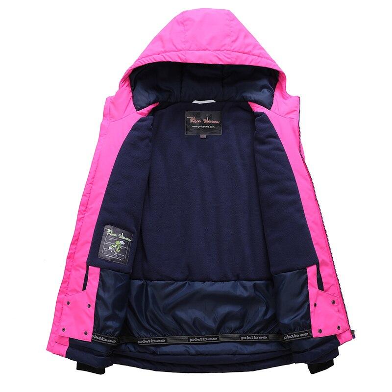 Phibee costume d'hiver pour fille enfants vêtements Ski costume chaud étanche coupe vent Snowboard ensembles hiver veste enfants vêtements - 6