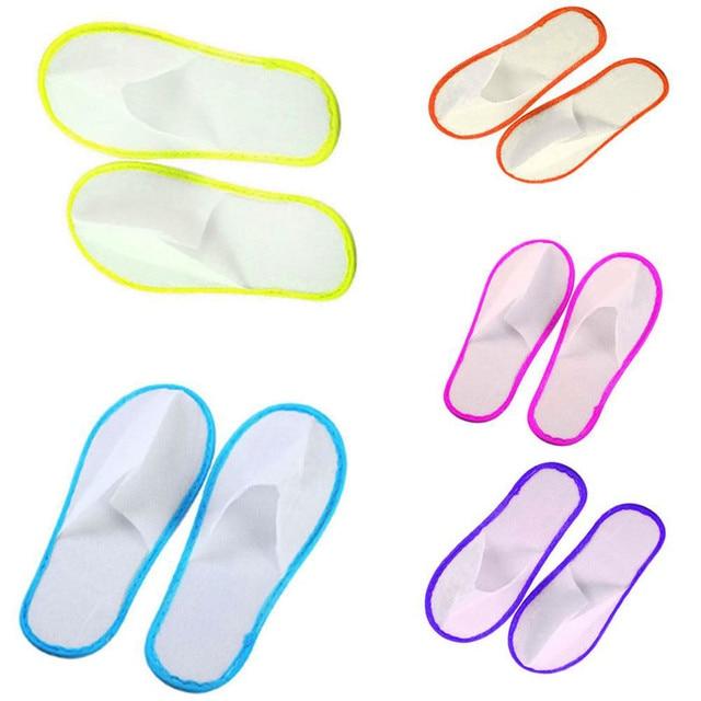Zapatillas de felpa para huéspedes de 6 6 6 pares con punta cerrada Juego de alfombr 2182a9