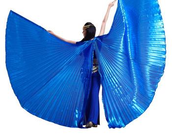 Nowy 2017 wysokiej jakości akcesoria do tańca skrzydła sprzedaż egipskiej otwarcia Isis skrzydła tańca brzucha bez kij tanie i dobre opinie Taniec brzucha Polieterosulfon POLIESTER WOMEN #4527 BELLYQUEEN Oriental belly dance costume Adults only Wings not include stick