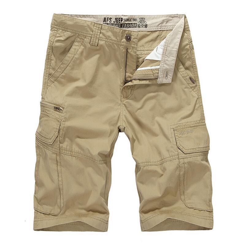 Brand 2019 Men Cargo Shorts Summer Bermuda Homme Male Casual Fashion Shorts Breathable Thin Pantalon Homme Mens Shorts