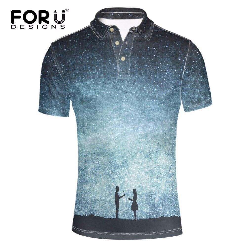 Forudesigns Imprimé Polo Marque Vêtements Espace Fille 3d Galaxy cT3FKJ1l