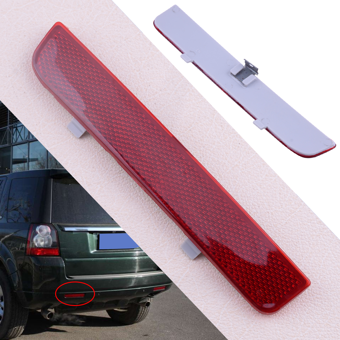 CITALL Rear Left Red Car Bumper Reflector LR006349 Fit For