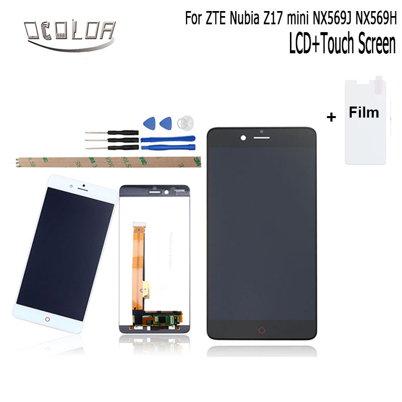 ocolor For ZTE Nubia Z17 mini NX569J NX569H LCD Display and Touch Screen Screen Digitizer Assembly Replacement +Tools +Film
