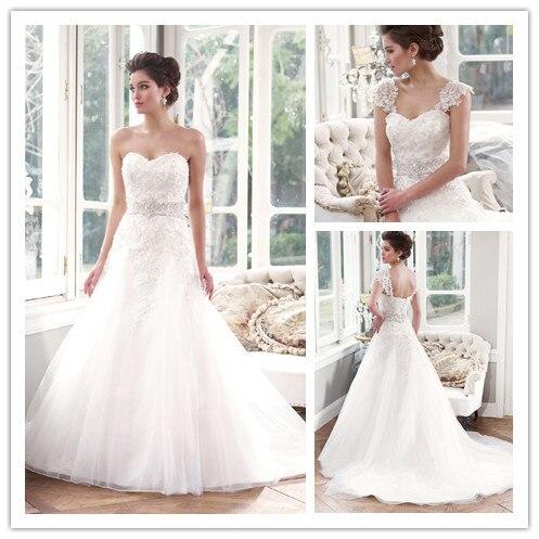 Free Shipping We 2408 Detachable Straps Wedding Dresses A Line Bridal In Karachi