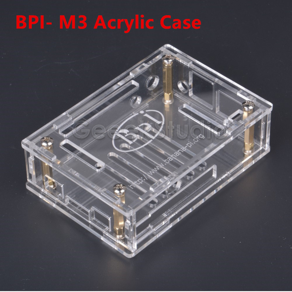 Transparent Acrylic Case Cover Shell Protective Enclosure Box For BPI-M3 Banana Pi M3