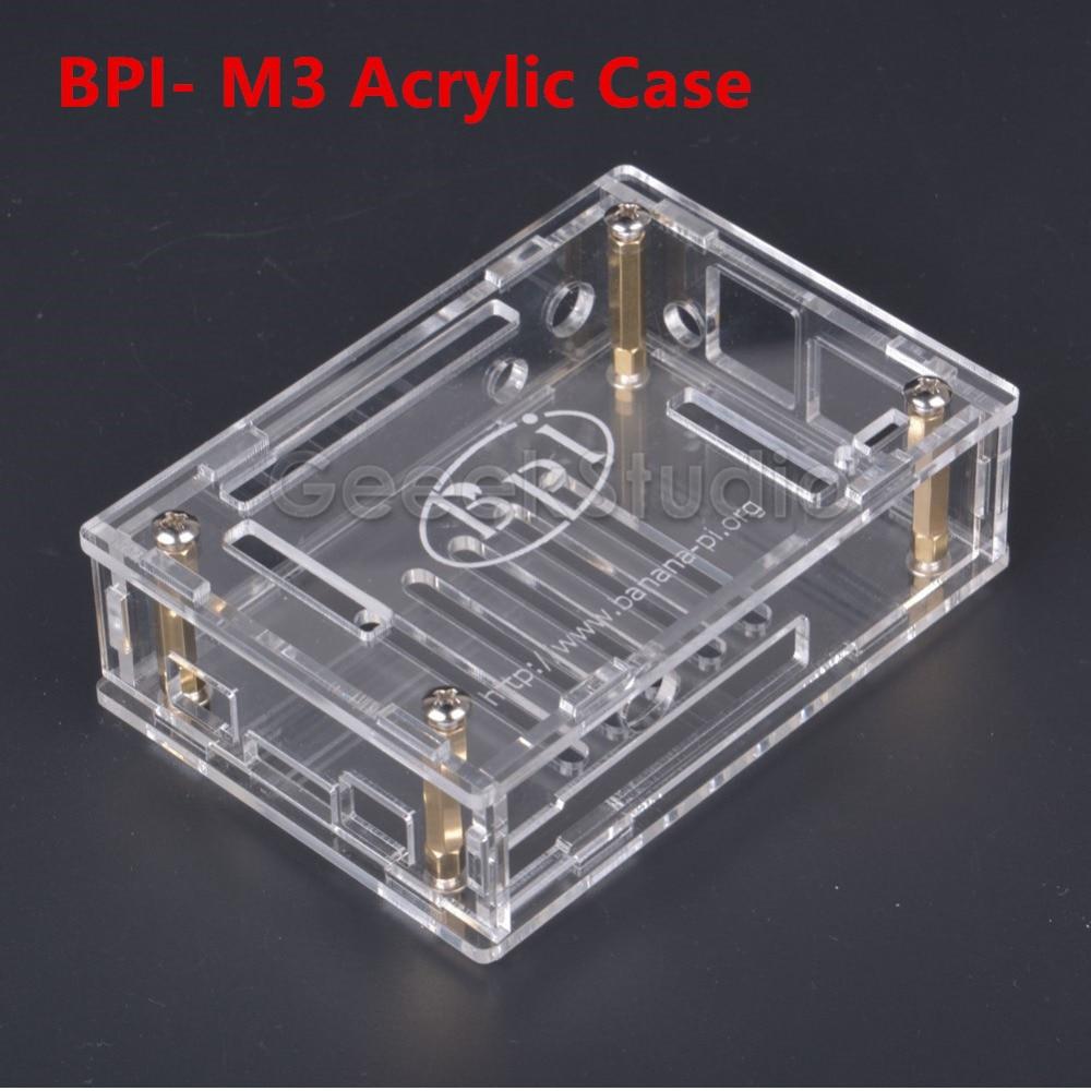 Transparent Acrylic Case Cover Shell Protective Enclosure Box For BPI-M3 Banana Pi M3