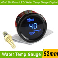 "Digital Water Temp Gauge 40~120 2"" 52mm Car Water Temp Temperature Gauge With Sensor Blue LED For 52mm Car Auto Gauge Meter"