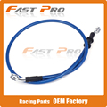 Blue Motorcycle 500mm-2000mm Braided Steel Hydraulic Brake Clutch Radiator Oil Cooler Hose Line Pipe Tube 28 Degree Banjo