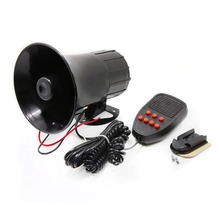 12V 110Db 30W Motorcycle Car Auto Vehicle Truck 7 Sound Tone Loud Horn Siren Police Firemen Ambulance Warning Alarm Loudspeaker