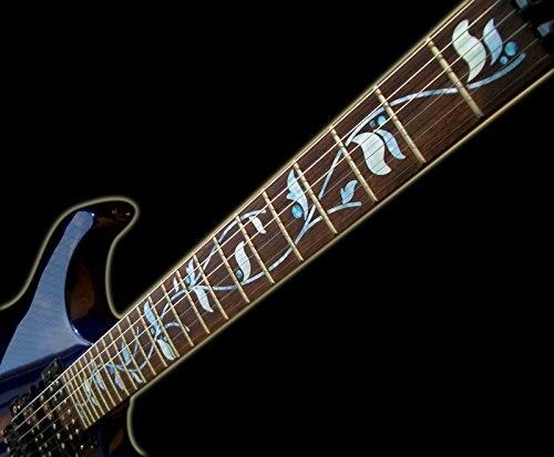 Marqueurs Fretboard autocollants incrustés pour guitare-arbre de vie personnalisé