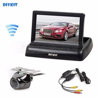 DIYKIT Wireless 4 3 Inch Car Reversing Camera Kit Back Up Car Monitor LCD Display HD