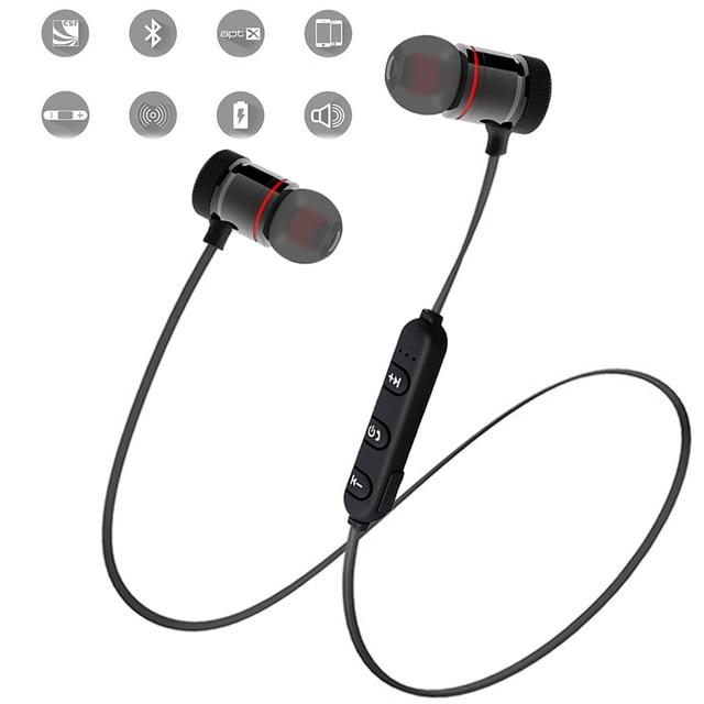 e249cc563b2 MoreBlue Z07 Magnetic Wireless Bluetooth Earphones Sport Running Headphones  Metal Super Bass Headset Sweatproof Earbuds w/ Mic